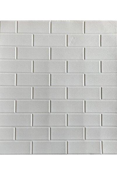 Renkli Duvarlar Nw63 Beyaz Düz Tuğla Arkası Yapışkanlı Esnek Silinebilir Duvar Paneli