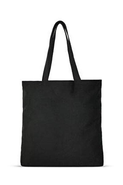 Siyah Gabardin Bez Çanta | %100 Pamuk - C0216