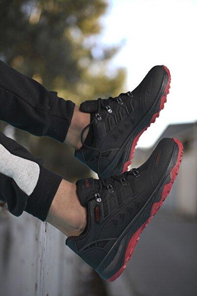 Riccon Siyah Kırmızı Unisex 3d Rubber Trekking Ayakkabı 00128070
