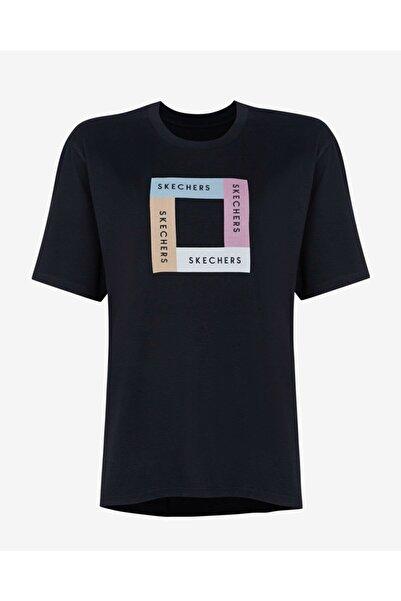 SKECHERS S212932-001 W Asymmetric T-shirt Kadın T-shirt