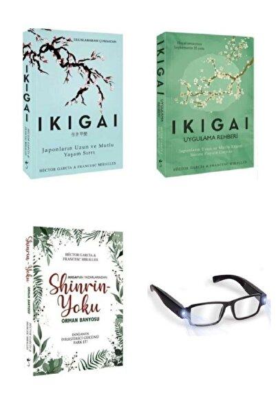 İndigo Kitap Francesc Miralles Ikigai Set 3 Kitap Uygulama Rehberi Shinrin Yolu Ledli Okuma Gözlüğü Hediyeli