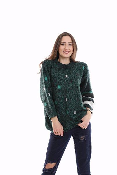Urban Vintage Kadın Yeşil Kazak