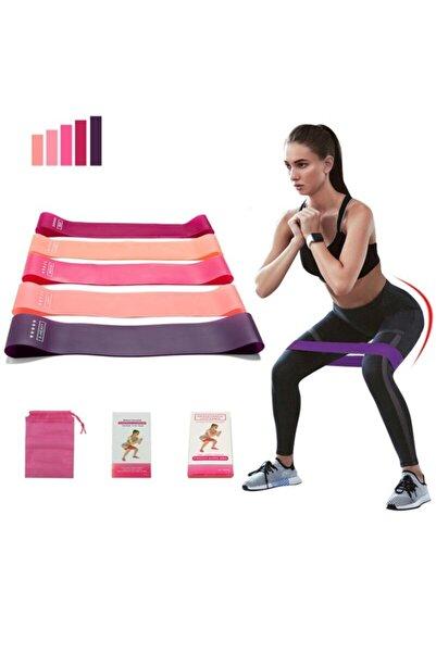 Sevamed 5 Li Farklı Dirençte Squat Bandı Hafif Orta Sert Pilates Aerobik Çalışma Lastiği Egzersiz Fitness