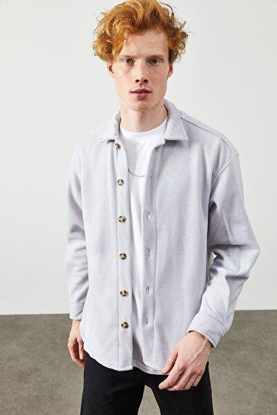 XHAN Lila Polar Düğmeli Gömlek 2kxe2-45335-26
