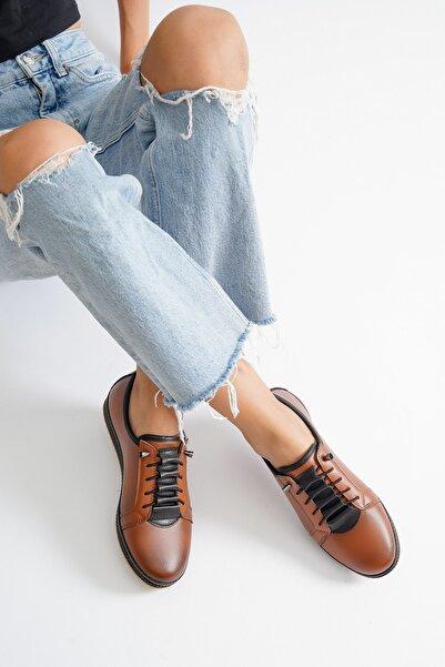 KAYGISIZ KUNDURA Ortopedik Taban Kahverengi Kadın Ayakkabı