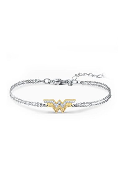 Swarovski Zirconia Çift W Gümüş Bileklik Fit Wonder Woman 5502311