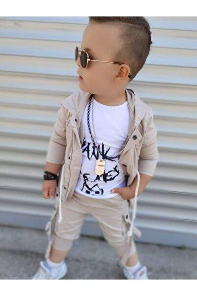 pamukşeker Erkek Çocuk Ceket ,pantolon ,tişört Seti