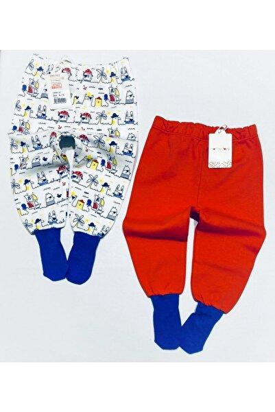 Mother Love Organik Pamuk 2 Li Çoraplı Pantolon Pijama 0-3 Yaş