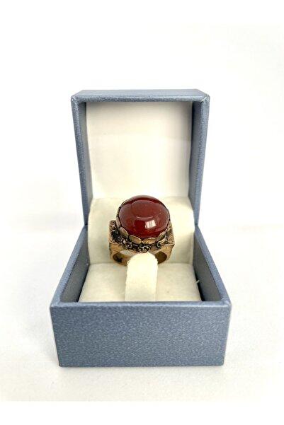 AgateStones Orijinal Akik Taşı Bronz Yüzük