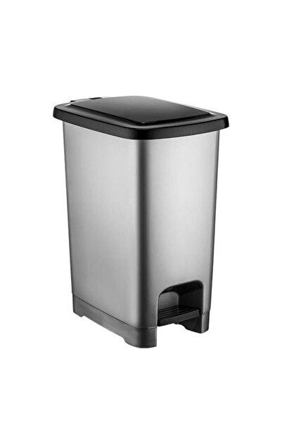 Şen Yayla 40 Lt Slim Pedallı Plastik Çöp Kovası Siyah Kapaklı 4283