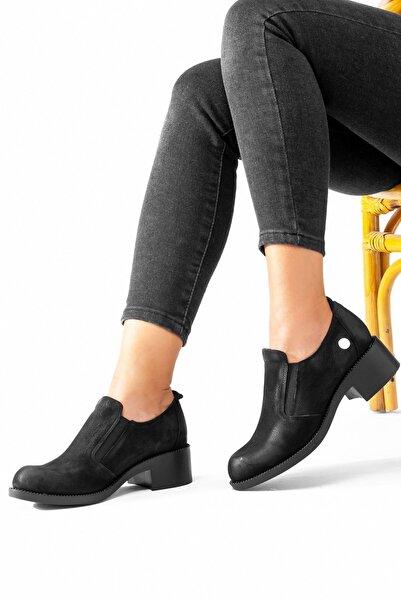 Mammamia Kadın Kışlık Hakiki Deri Günlük Alçak Topuklu Ayakkabı