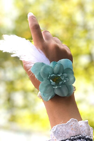 Huzur Party Store Bride To Be 10 Adet Nedime Gelin Bilekliği Tüy Inci Detaylı Mint Yeşili Renk Bekarlığa Veda Partisi