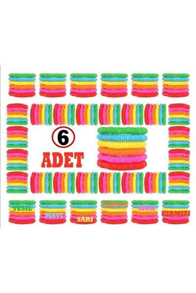 ümit toys Pop Tube 6 Farklı Renk Kırmızı Turuncu Sarı Mor Mavi Yeşil 6 Adet