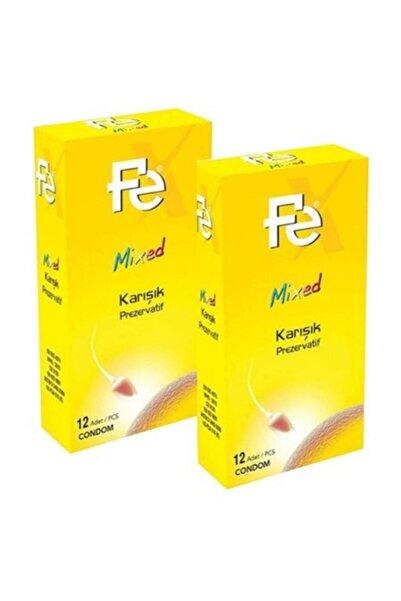 Fe Mixed Karışık Prezervatif 12'li X 2 Adet