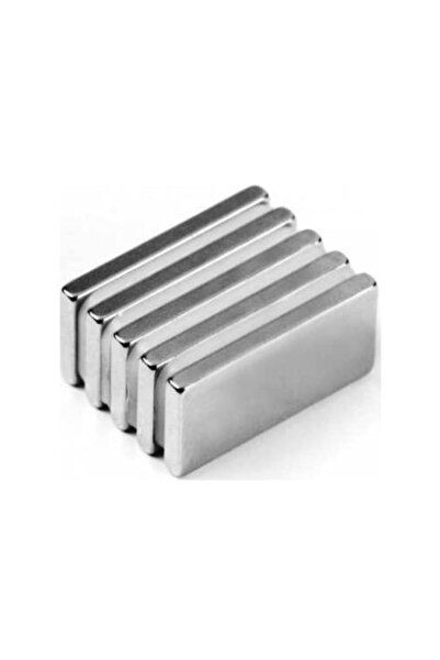 Dünya Magnet 5 Adet 20mm X 10mm X 3mm Köşeli Süper Güçlü Neodyum Mıknatıs