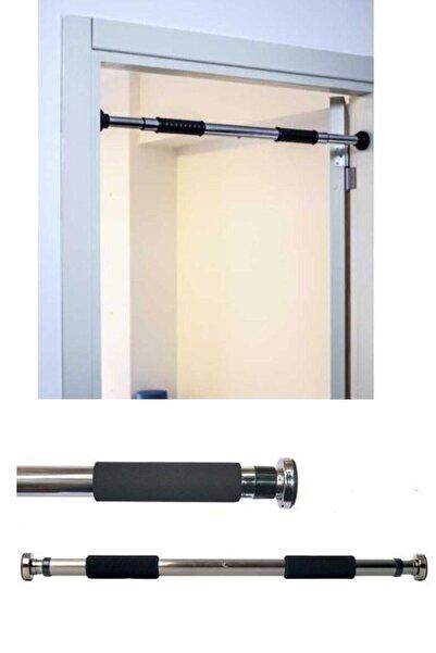 İndirimKap Kapı Barfiks Çubuğu 65-100 cm Ayarlanabilir Barfiks Çekme Demiri Barfiks Aleti
