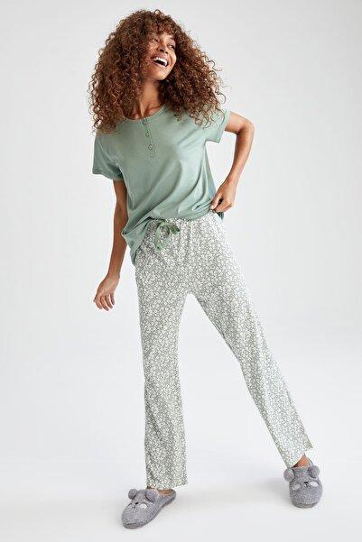 DeFacto Relax Fit Kısa Kollu Pijama Takımı
