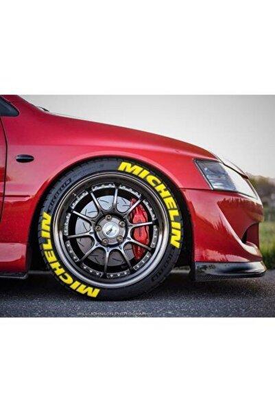 Michelin Lastik Yazısı 8x Mıchelın Sarı 3d Araç Motorsiklet Lastik Yazı Stıker