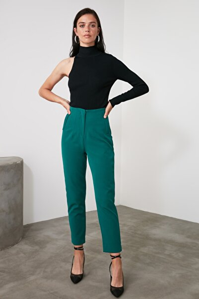 TRENDYOLMİLLA Zümrüt Yeşili Basic Pantolon TWOSS20PL0515