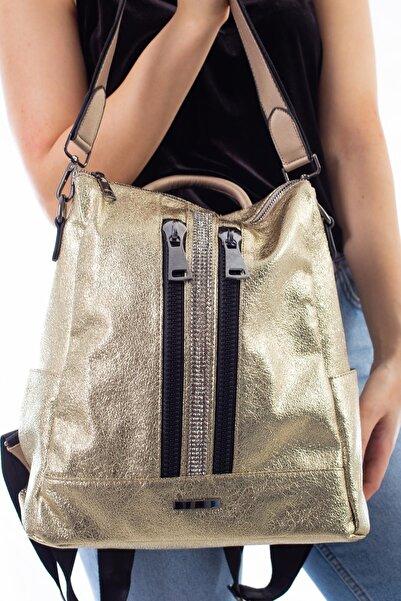 Limoya Bags Lola Gold Kadın El Ve Sırt Çantası