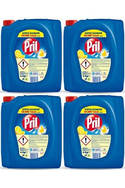 Pril Sıvı Bulaşık Deterjanı Limon 4 Kg 4 Adet