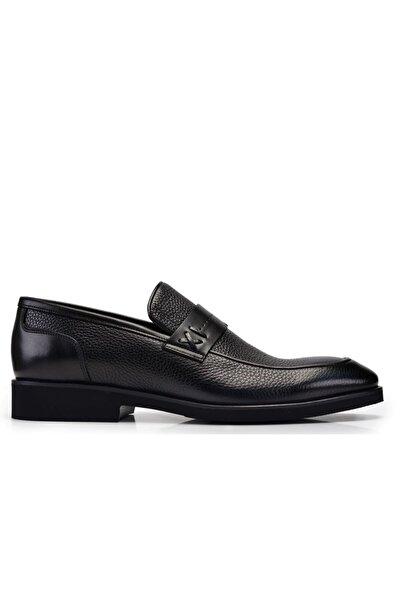 Nevzat Onay Erkek Siyah Hakiki Deri Günlük Loafer Ayakkabı -11333-