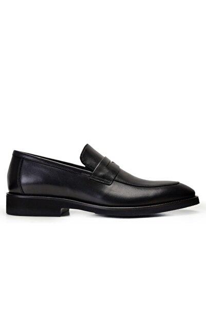 Nevzat Onay Erkek Siyah Hakiki Deri Günlük Loafer Ayakkabı -10054-