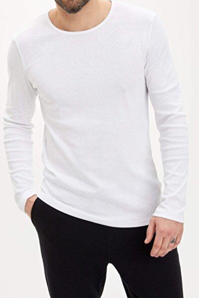 Darkzone Beyaz Uzun Kollu Pamuklu Body