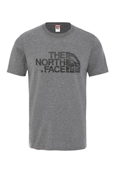 THE NORTH FACE Woodcut Dome Erkek T-shirt Gri