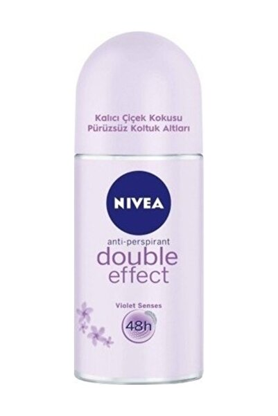 Nivea Double Effect Mor Düşler Roll-on Deodorant 50ml Kadın