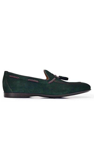 Nevzat Onay Erkek Yeşil Hakiki Deri Günlük Loafer Ayakkabı -11567-