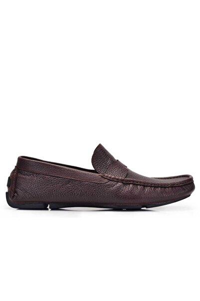 Nevzat Onay Erkek Kahverengi Hakiki Deri Yazlık Ayakkabı -11600-