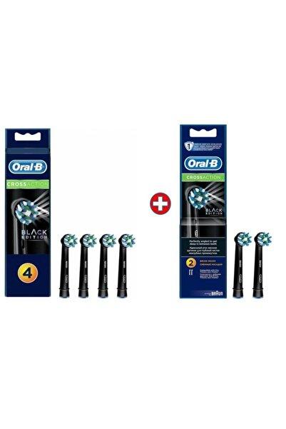 Oral-B Diş Fırçası Yedek Başlığı Cross Action Siyah 6'lı