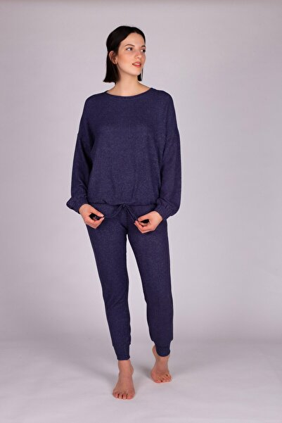 Hays Kadın Lacivert Triko Pijama Takım