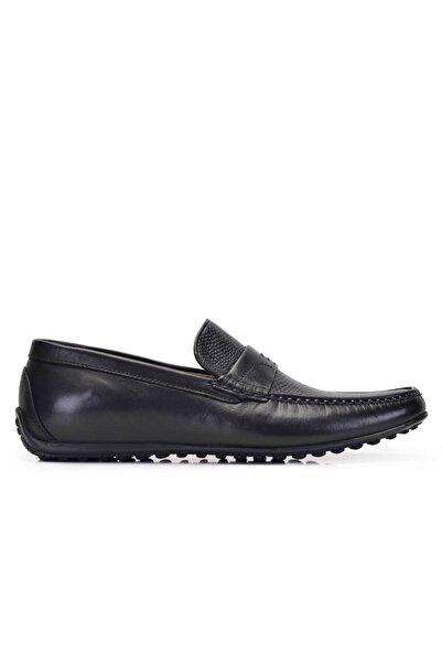 Nevzat Onay Erkek Siyah Hakiki Deri Günlük Loafer Yazlık Ayakkabı -11561-