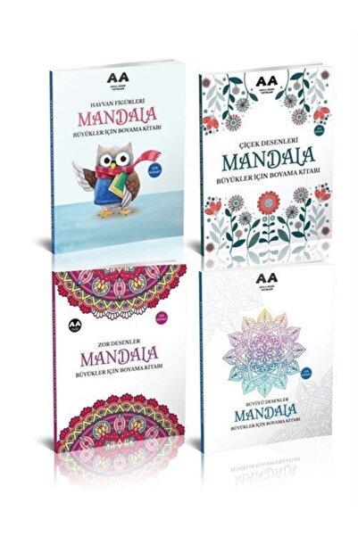 Akıllı Adam Yetişkinler Için Mandala Boyama Seti 2 (4 Kitap)
