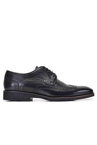Nevzat Onay Erkek Siyah Hakiki Deri Günlük Bağcıklı Ayakkabı -11550-
