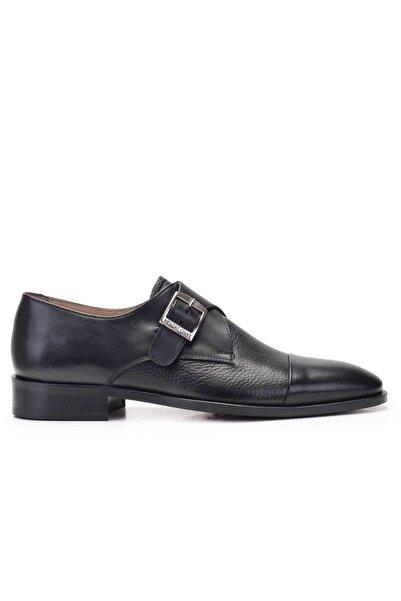 Nevzat Onay Erkek Siyah Hakiki Deri Klasik Loafer Kösele Ayakkabı -11801-