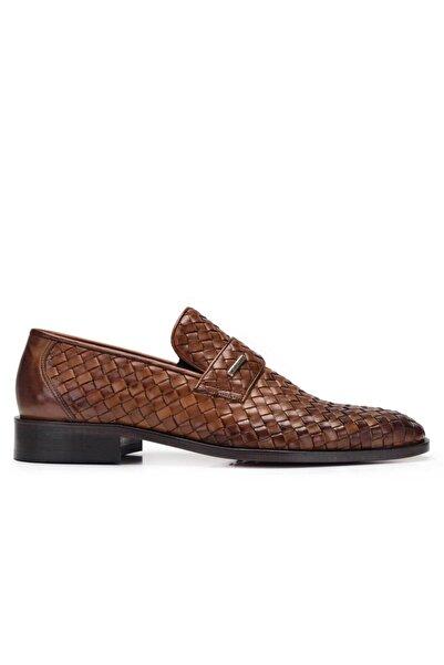 Nevzat Onay Erkek Taba Hakiki Deri Klasik Loafer Kösele Ayakkabı -8783-