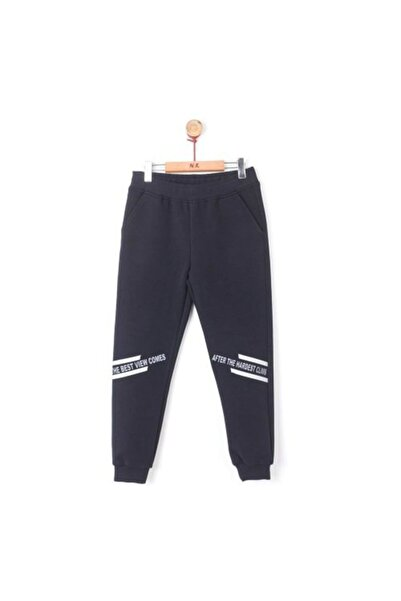 NK Erkek Çocuk Siyah Pamuklu Reflektör Pantolon