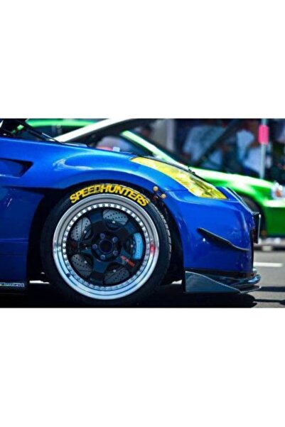 SPEEDO Lastik Yazısı 8xli Speedhunters Koyu Sarı 1.sınıf Kalite Solmaz Araç Lastik Stiker Etiket