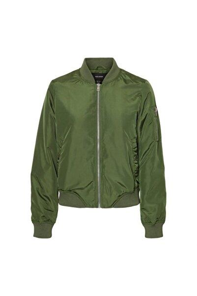 Vero Moda 10230816 Kadın Mont Sıyah-yeşil