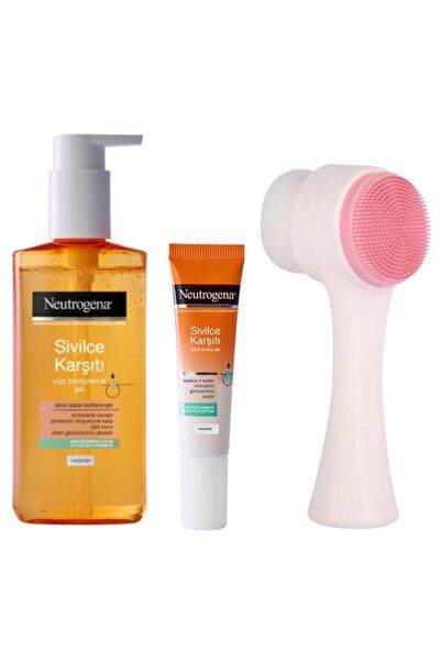 Neutrogena Sivilce Karşıtı Yüz Yıkama Jeli Ve Sos Sivilce Jeli Ve Yüz Temizleme Fırçası