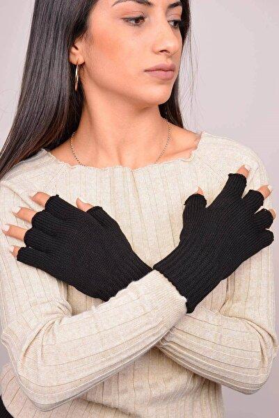 Mossta Kadın Siyah Parmaksız Eldiven