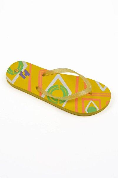 Mossta Kadın Sarı Parmak Arası Plaj Terliği
