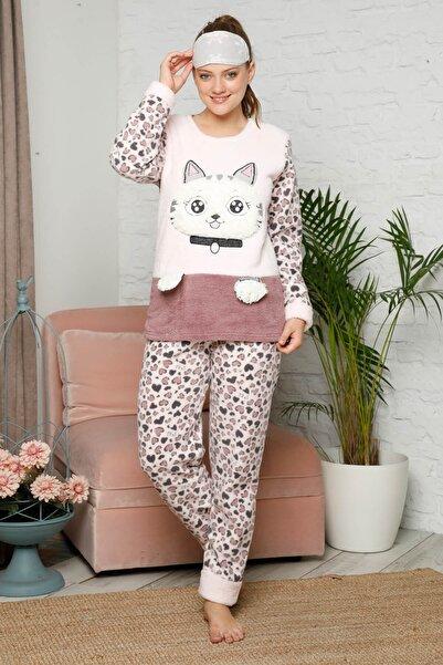 Mossta Kadın Pembe Kışlık Welsoft Pijama Takımı