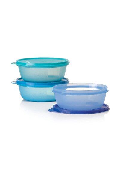 Tupperware Üç Şekerpare Saklama Kabı Mavi 3 X 600 Ml