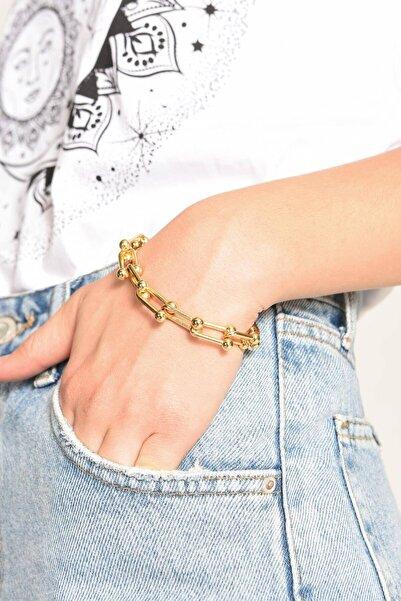 Addax Kadın Altın Zincir Bileklik B-587 ADX-0000023040