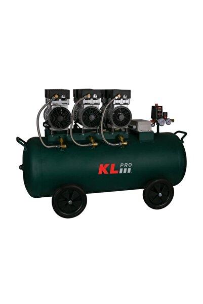 KLPRO Yeşil Sessiz Hava Kompresörü 3hp 100 l 8 Bar Klk103s