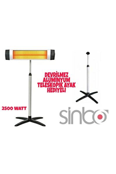 Sinbo Ecoray 2500 W Ayaklı Infrared Isıtıcı Siyah Ufo Ayaklı Elektrikli Isıtıcı